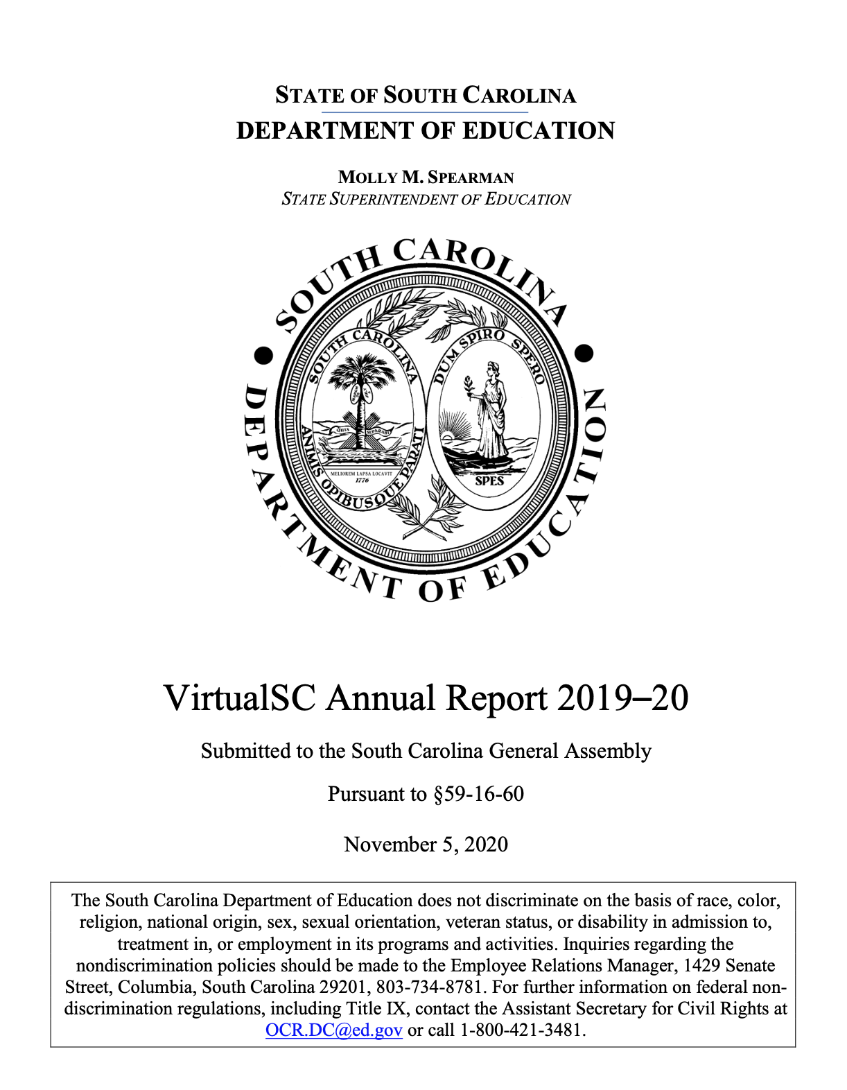 VirtualSC Annual Report 2019-20